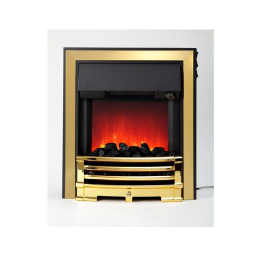 Aspen Electric Inset Fire Brass