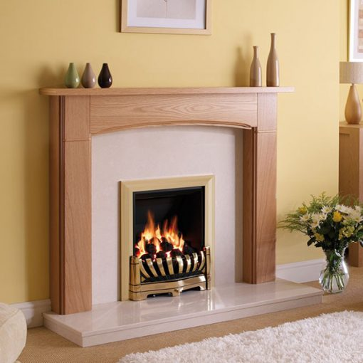 Avantgarde Brass Slimline gas fire