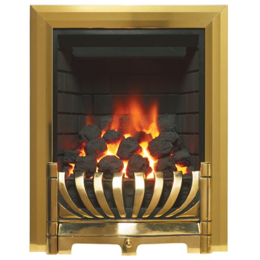 Avantgarde Gas Fire Brass