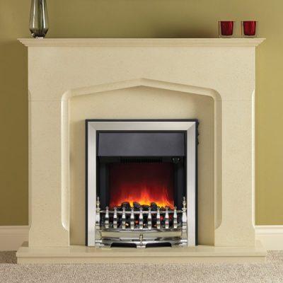 Bramwell Eco Elecric Fireplace Chrome