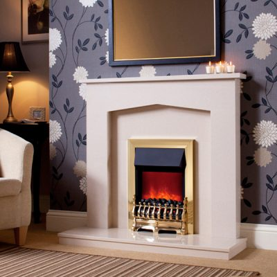 Camberley Electric Fire Brass