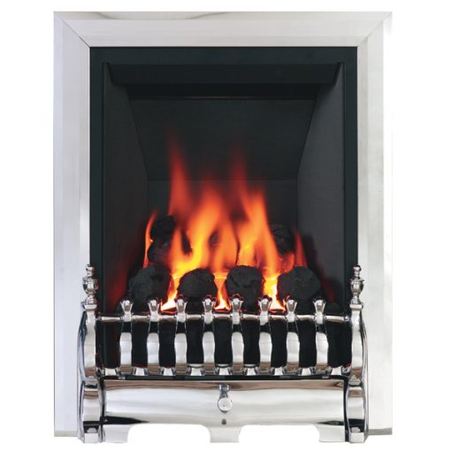 Classic Slimline Gas Fire Chrome