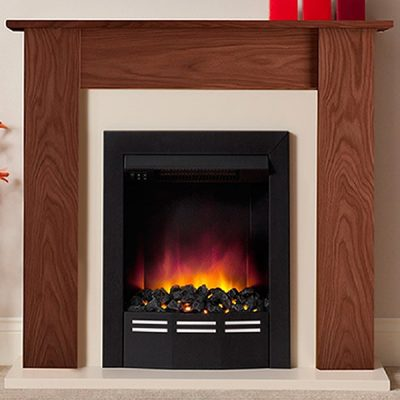 Colston Warm Oak Electric Fireplace
