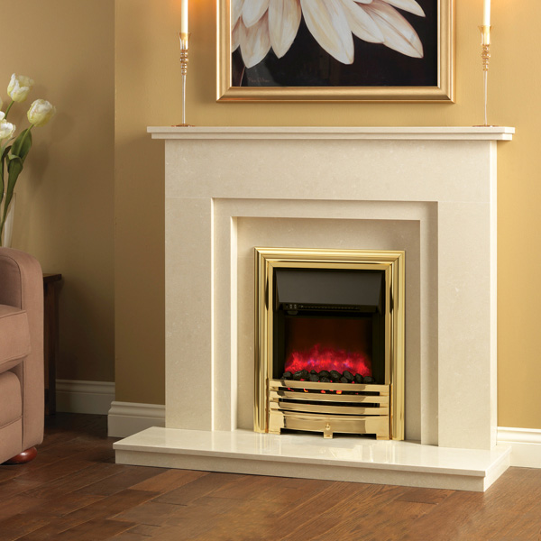 Contessa Electric fire Brass