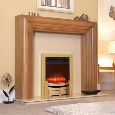 Electiflame Modern Brass electric fireplace