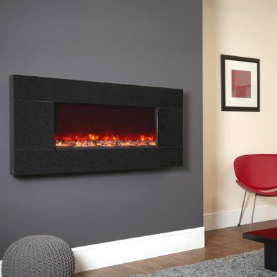 Electriflame Basalt Granite electric fire