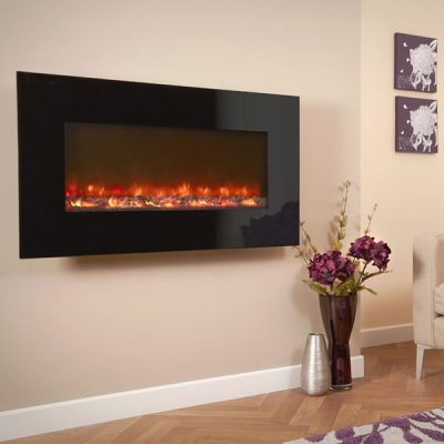 Electriflame Black Glass electric fire