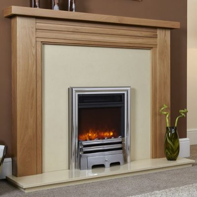 Electriflame Opulence Silver electric fire