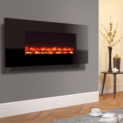 Electriflame Piano Black electric fire