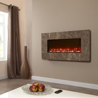 Electriflame Prestige Brown electric fire
