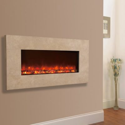 Electriflame Travertine electric fire
