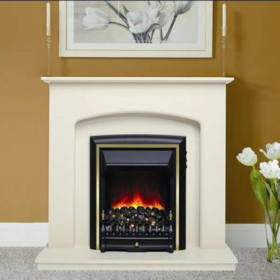 LussoEco Electric Fireplace Black