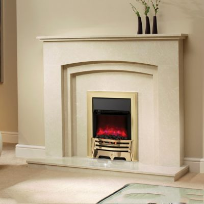 Mayfair Electric fire Brass