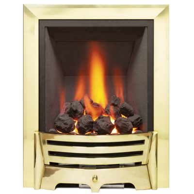 Mayfair Gas Fire Brass Coal