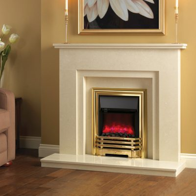 Savannah Electric Fire Brass