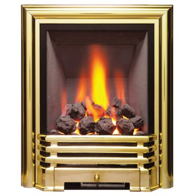 Savannah Slimline Gas Fire Brass Coal