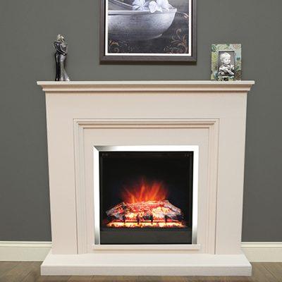 Stanton Electric Fireplace Almond