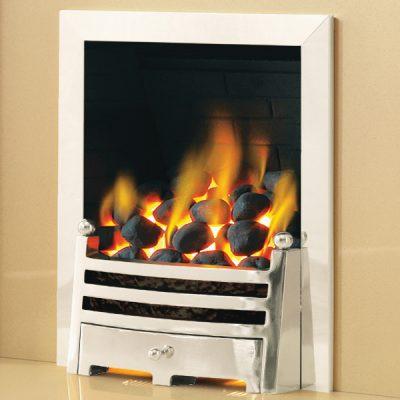 pure glow bauhaus gas fire Silver