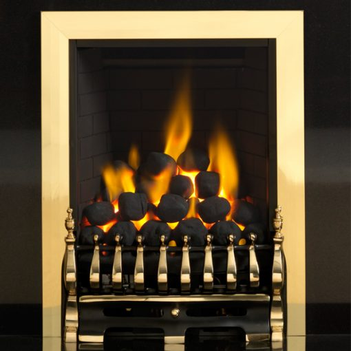 pureglow blenheim gas fire brass