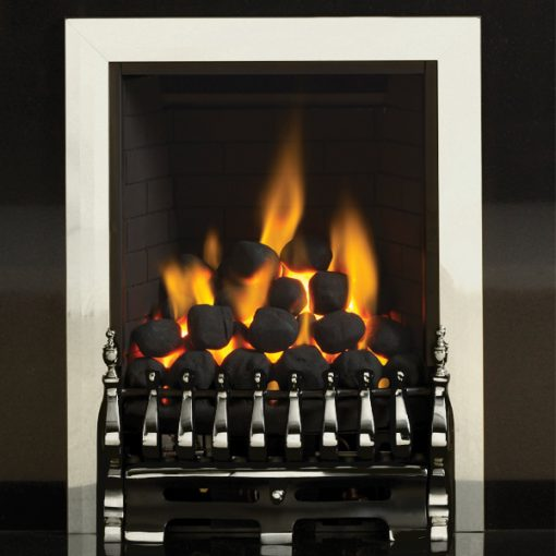 pureglow blenheim gas fire silver