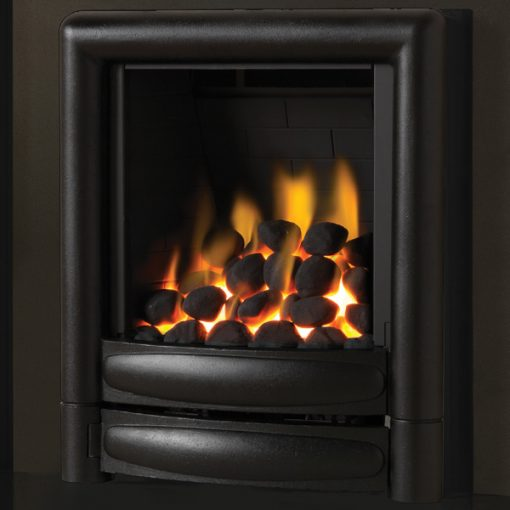 pure glow Carmen gas fire black