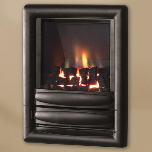 pure glow carmenhiw gas fire black