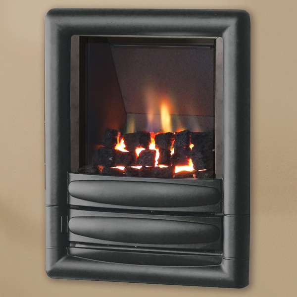 pure glow Carmen gas fire graphite