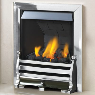 pure glow daisy gas fire Silver