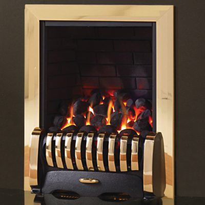 pure glow media gas fire brass