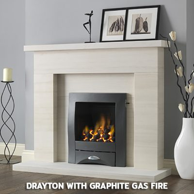 Drayton With Graphite Gas Fire