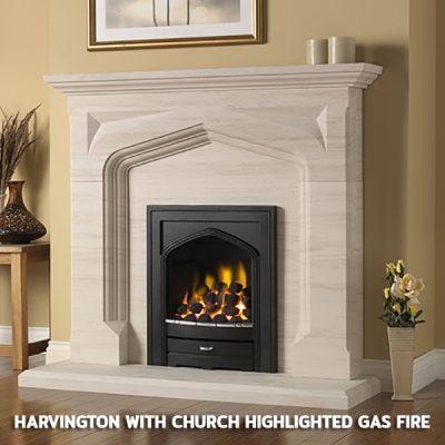 Harvington With Churchill Highlighted Gas Fire