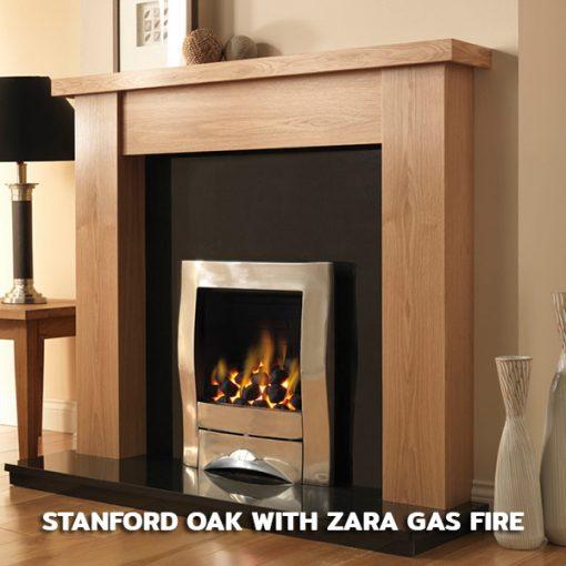 Stanford Oak with Zara Gas Fire