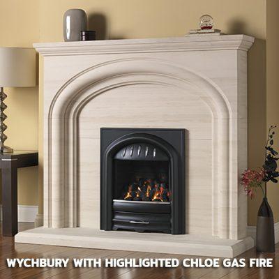 Wychbury With Highlighted Chloe Gas Fire