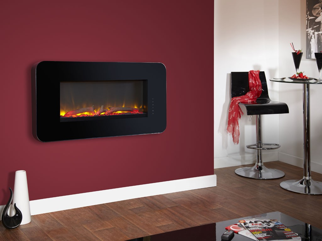 celsi_touchflame_logs_black electric fire