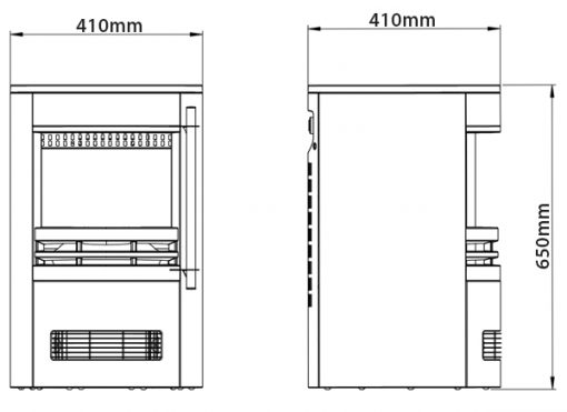 Tunstall Electric Stove Dimensions