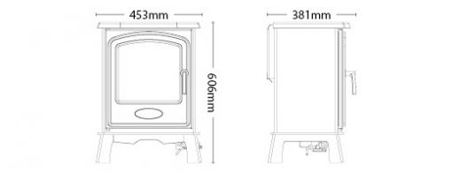 Hereford 5 Gas Stove Dimensions