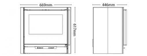 Hotspur 9 Woodburning Stove Dimensions